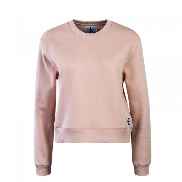 Damen Crop Sweatshirt Monogram Badge Rosa