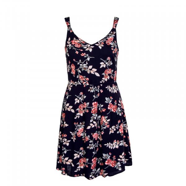 Damen Kleid - Karmen Short Rose Flower - Night Sky