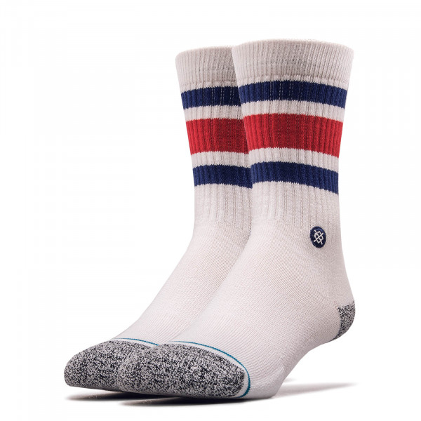 Socken Staples Boyd White Blue Red