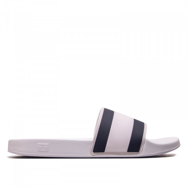 Herren Slide Essential Pool Flag White