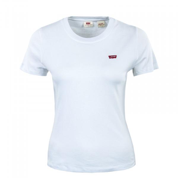 Damen T-Shirt - Rib Baby Tee - White