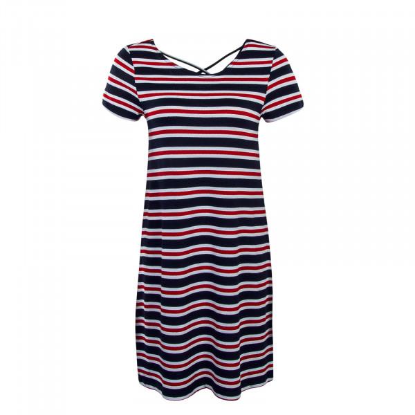 Dress Bera Stripe Navy Red White