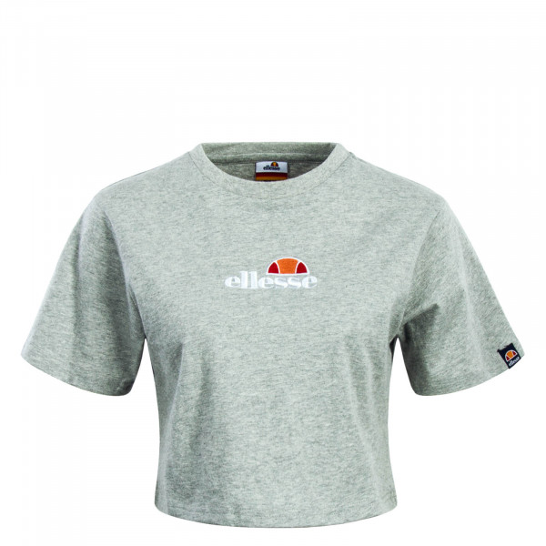 Damen T-Shirt Crop  Fireball Grey
