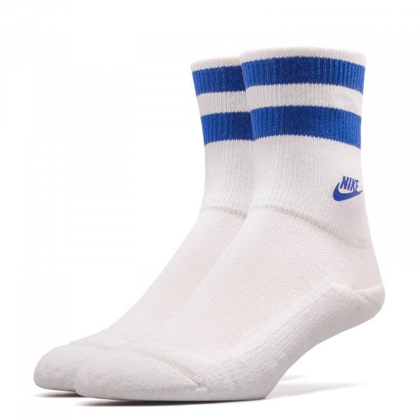 Nike Socks Fold Over Cuff White Royal
