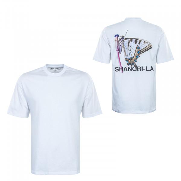 Herren T-Shirt - Shangri la Butterfly - White