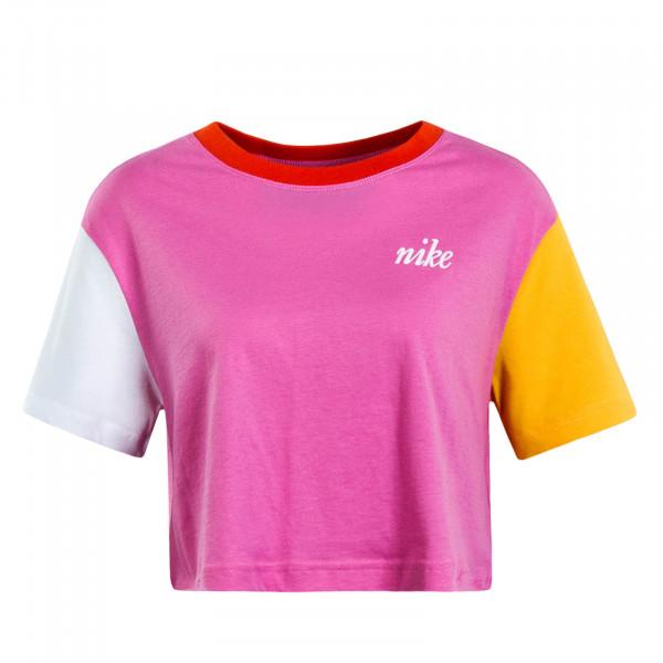 Damen T-Shirt Crop Femme 2 Crop Pink