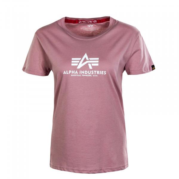 Damen T-Shirt - New Basic - Silver / Pink