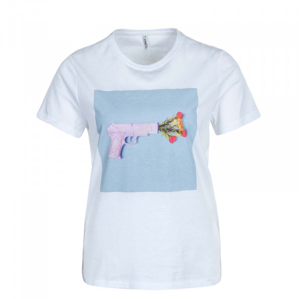 Damen T-Shirt Priya Life Reg Top Box JRS White Gun