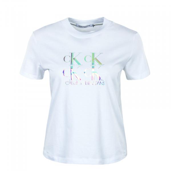 Damen T-Shirt - Shine Logo Tee 5637 - Bright White