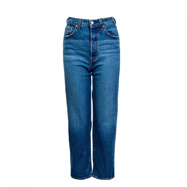 Damen Hose - Ribcage Straight Ankle Jazz Jive - blue