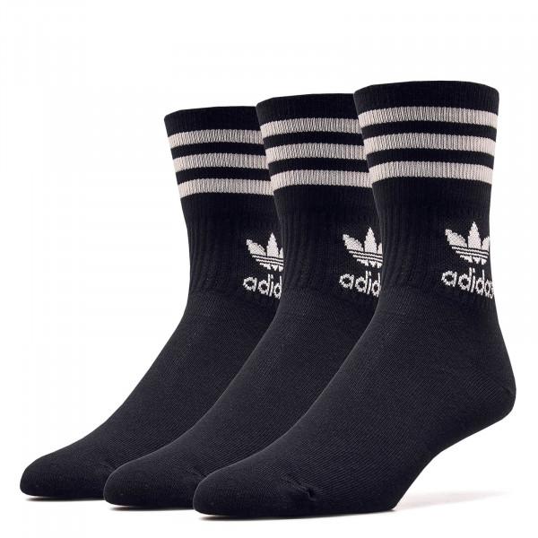 Socken 3er Pack Cut CRW Black White