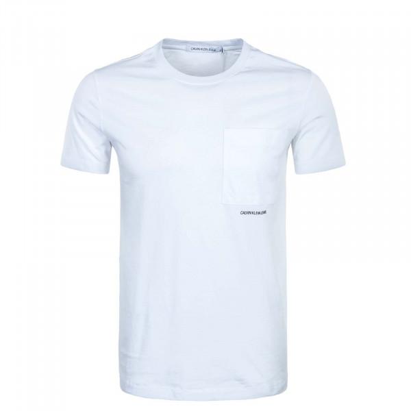 Herren T-Shirt - Micro Branding Pocket - White