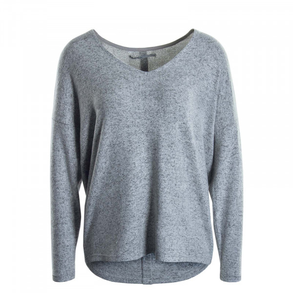 Damen Longsleeve Maye V Light Grey