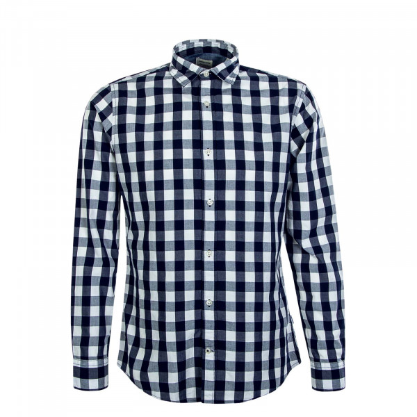 Herren Hemd Plain Check Navy