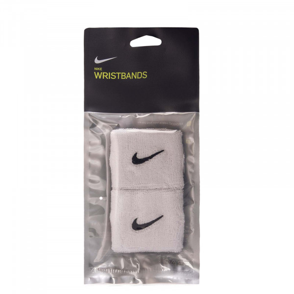 Swoosh Wristbands White Black