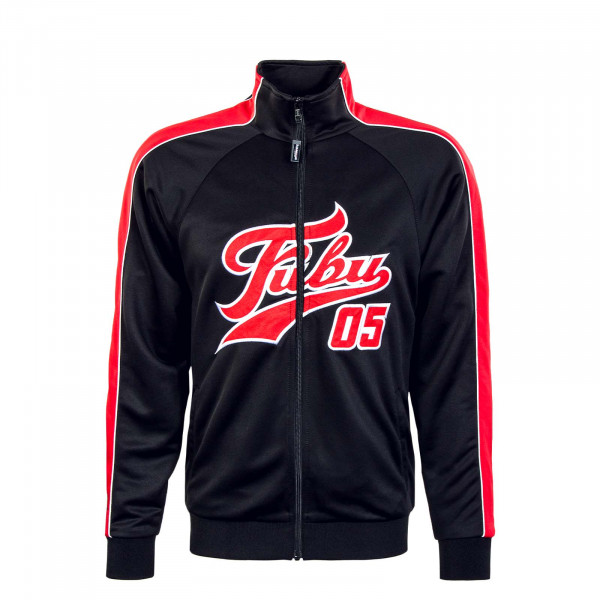 Herren Trainingsjacke - Varsity Track - Black / Red