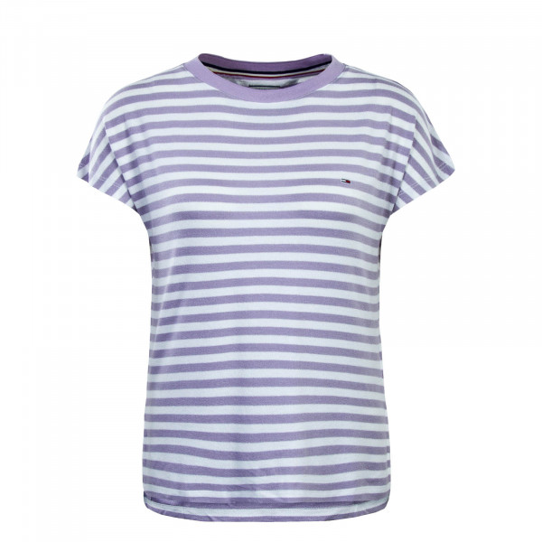 Tommy Wmn TS Textured Stripe White Lila
