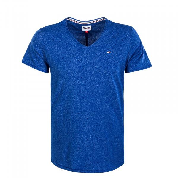 Herren T-Shirt - Slim Jaspe V Providence - Blue
