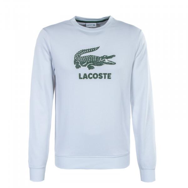 Herren Sweatshirt - SH0065 Blanc - White / Green