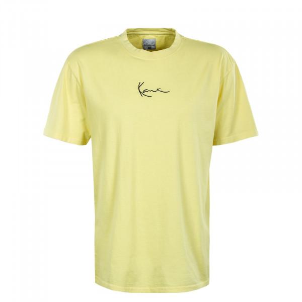 Herren T-Shirt - Small Signature Washed - Light Yellow