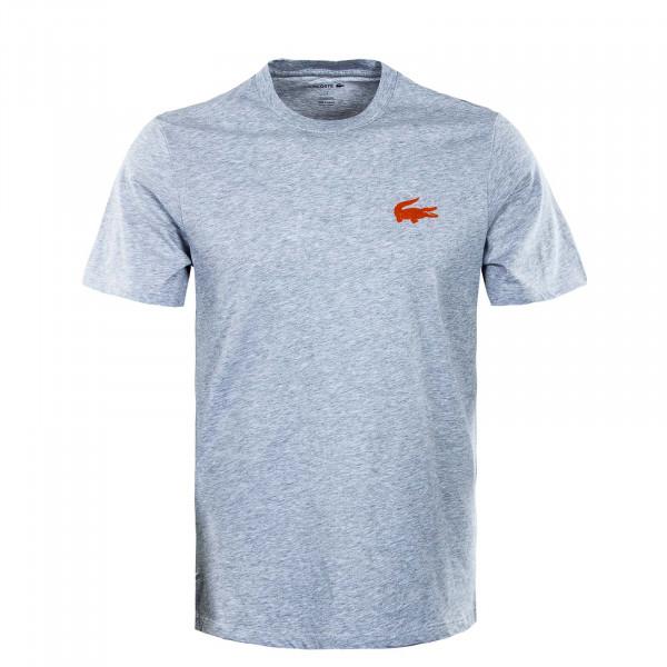 Herren T-Shirt -  TH9910 Silver Chine - Grey / Orange