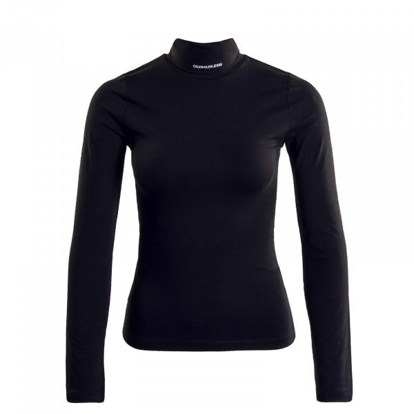 Damen Rollkragenshirt - Mirco Branding - Black