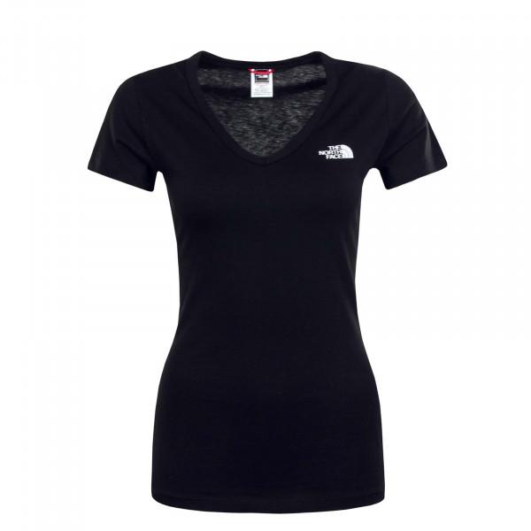 Damen T-Shirt Simple Dome Black