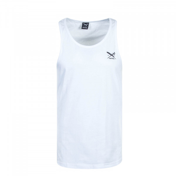 Herren Tank-Top Chestflag White Black