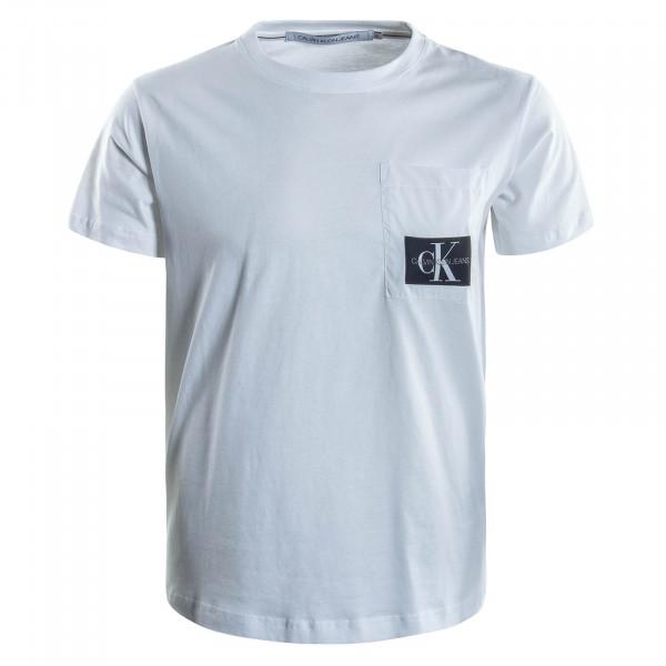 Herren T-Shirt Mixed Media White