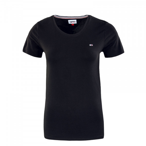 Damen T-Shirt - Stretch Crewneck - Black