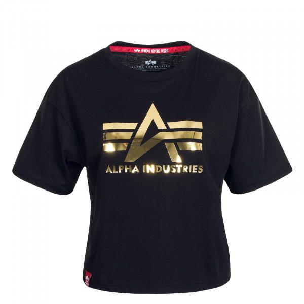 Damen T-Shirt Big A Black
