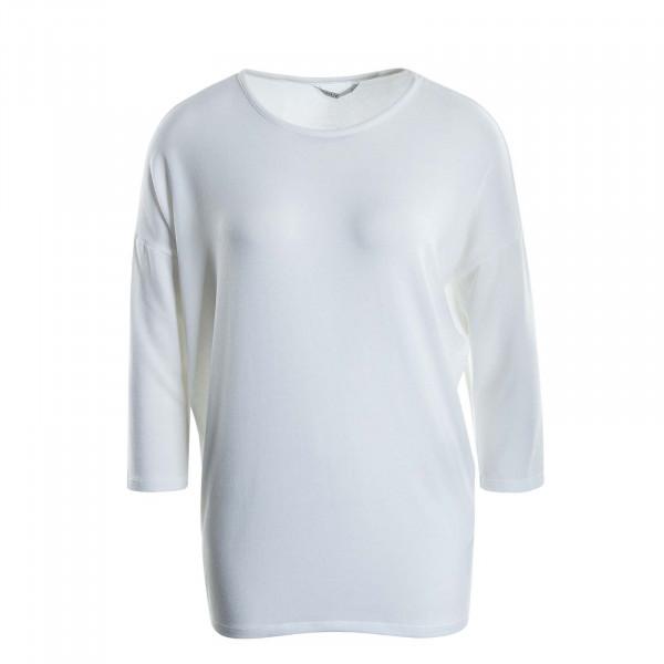 Damen Longsleeve Glamour 3/4 White