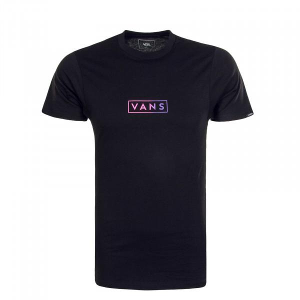 Herren T-Shirt Easy Box Vans Black Fuchsia