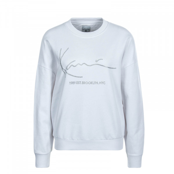 Damen Sweat Signature White Silver