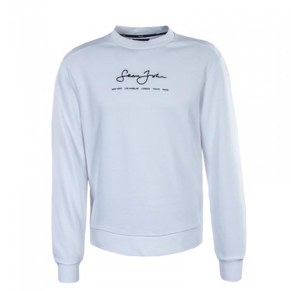 Herren Sweatshirt - Classic Logo Essential Crew - White