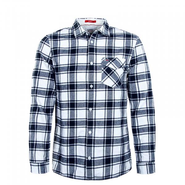 Herren Hemd - Flannel Plaid 11322 - White / Check