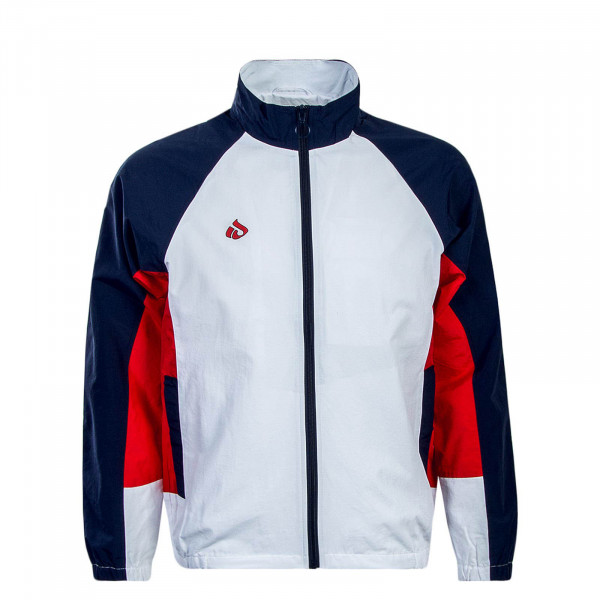 Herren Trainingsjacke Track White Blue Red