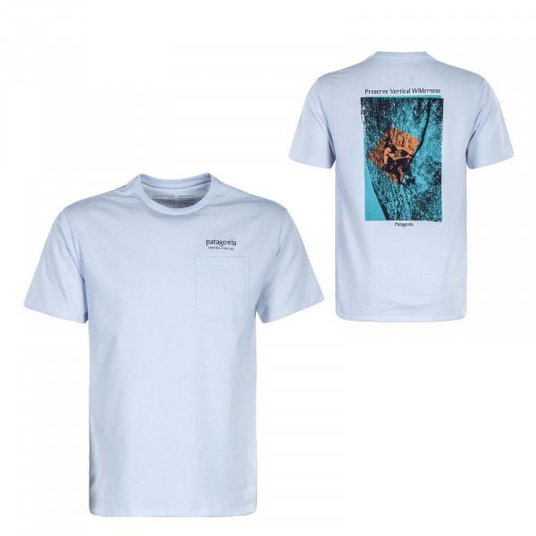 Herren T-Shirt - Granite Magic Pocket Responsibi - White