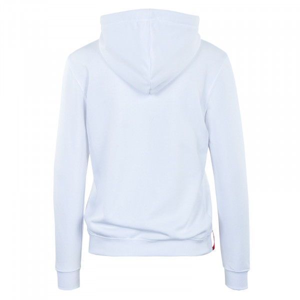 Damen Hoody - New Basic Rainbow Reflective Print - White