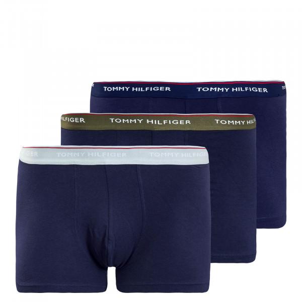 Boxershorts 3er-Pack 1642 Navy Olive Grey