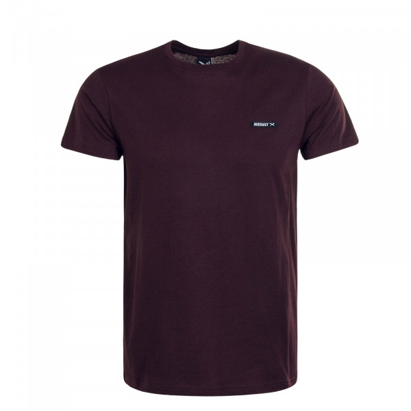 Herren T-Shirt Served Flag Bordeaux