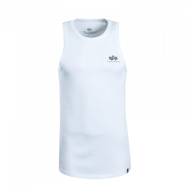 Herren Tank Small Logo White Black