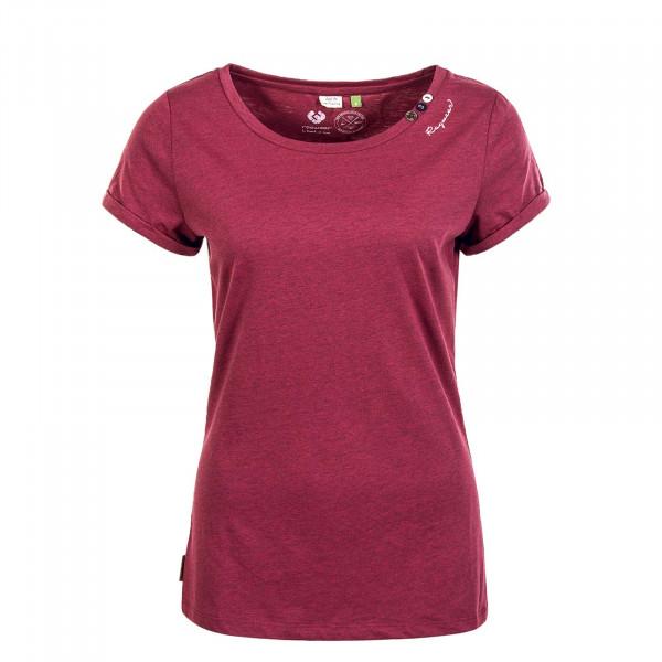 Damen T-Shirt Florah A Organic Wine Red