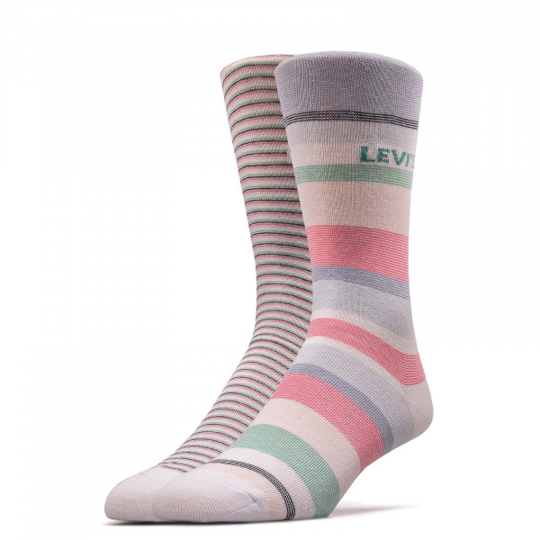 2er-Pack Socken Pairs Stripe White Pink