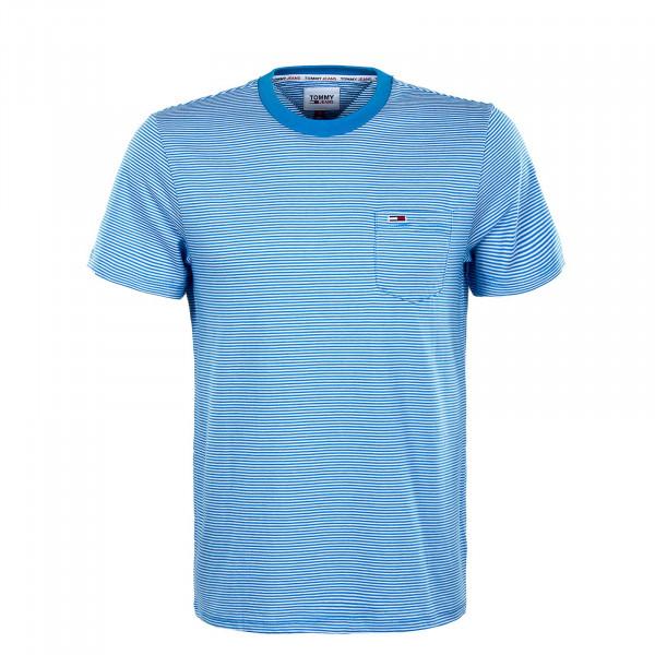 Herren T-Shirt - Reg Stripe Pocket Tee Frigid - Blue / Multi