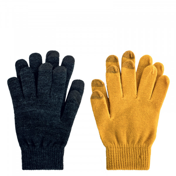 Damen Handschuhe 2er-Pack Aline Dark Grey Yellow
