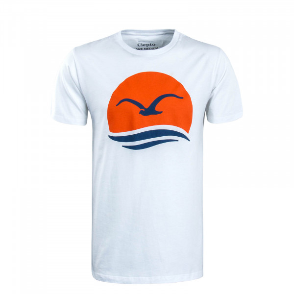 Herren T-Shirt Big Mocean White Orange