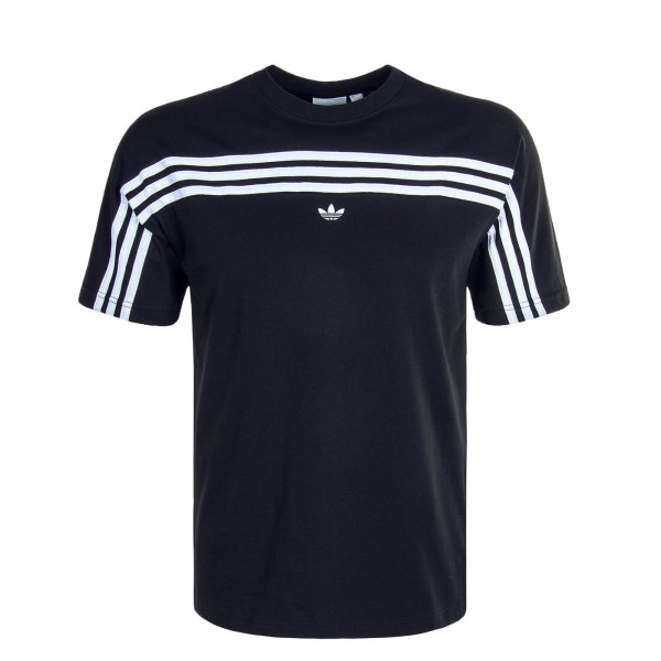 Herren T-Shirt 3 Stripe 1535 Black White