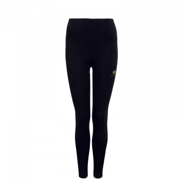 Leggings - SL Foil Print - Black Yellow Gold