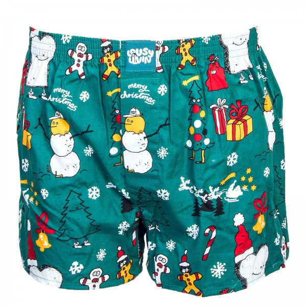 Lousy Livin Boxer Merry Merry Green